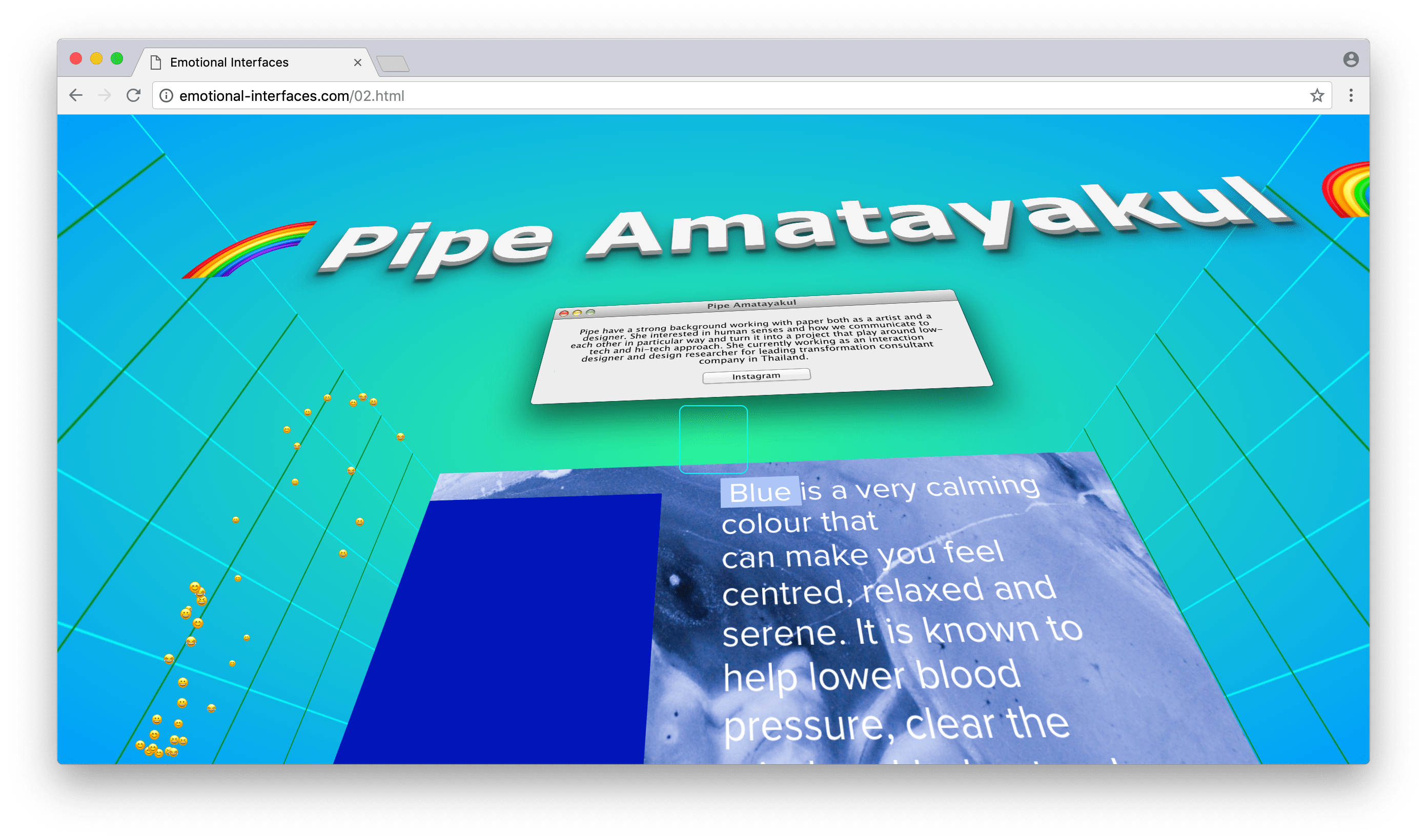 Pipe Amatayakul at Emotional Interfaces' online exhibition