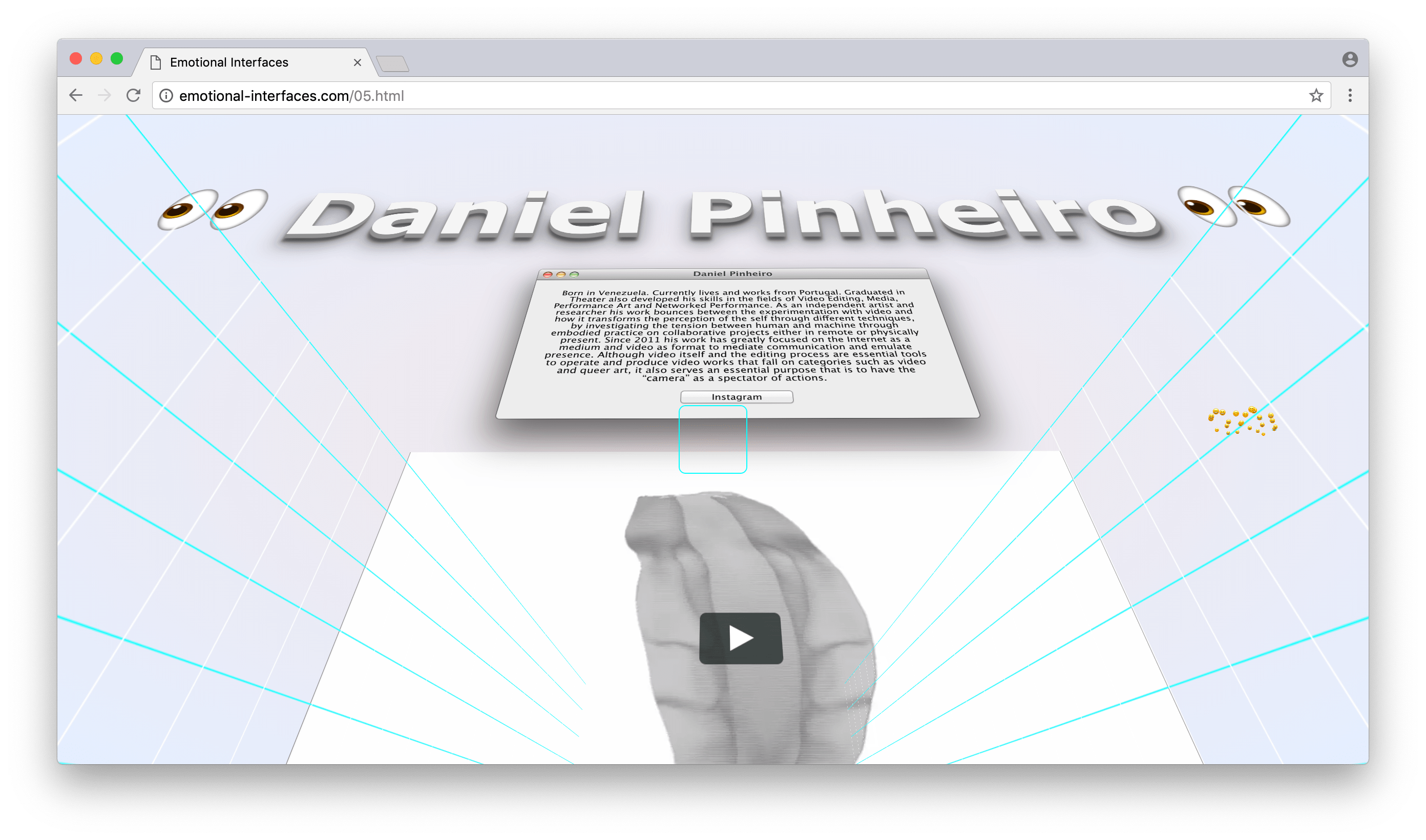 Daniel Pinheiro at Emotional Interfaces' online exhibition