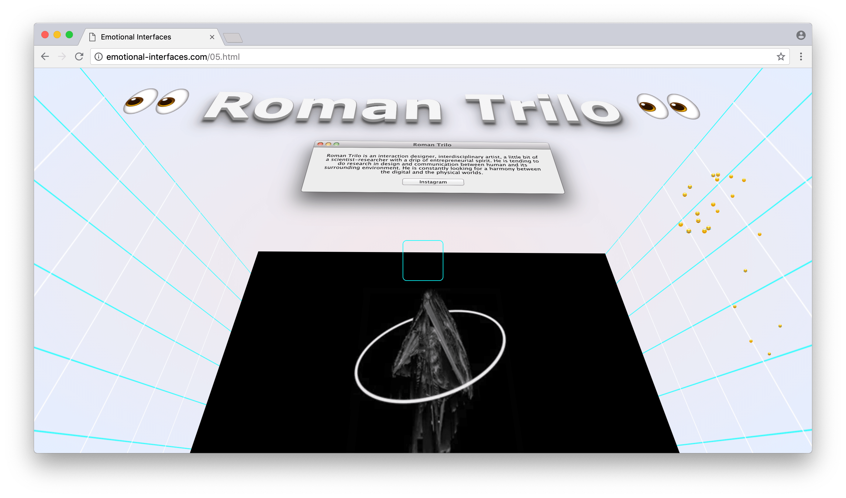 Roman Trilo at Emotional Interfaces' online exhibition